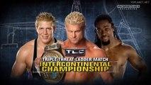 Dolph Ziggler vs Kofi Kingston vs Jack Swagger, Intercontinental title match - WWE Tables, Ladders, Chairs 2010