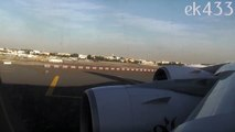 The Emirates A380   Taxi and Take-Off   Dubai International   EK003