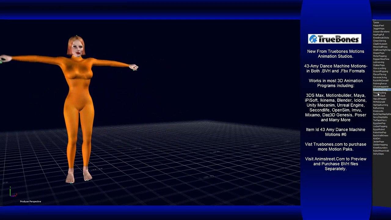 43-Amy Dance Machine Motions by Truebones #6