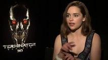 TERMINATOR GENISYS interviews   Schwarzenegger, Emilia Clarke Khaleesi   Game of Thrones