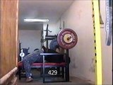 429 lbs. Bench press and Snatch training