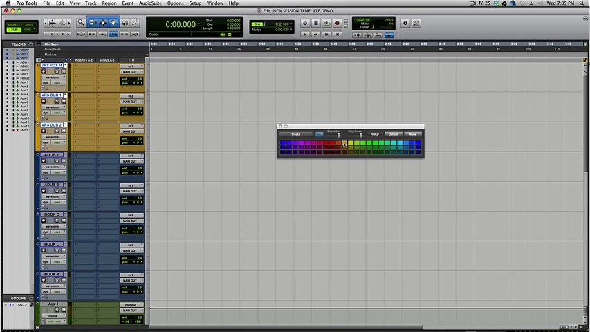 Mixing Rap & Hip Hop in Pro Tools (Creating Session Templates) PART #1