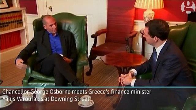 George Osborne meets Greece's finance minister – video