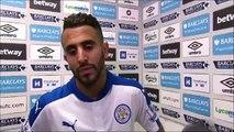 """Mahrez """"J'ai encore marqué, je suis très content mais sans mes coéquipiers ça n'aurait pas été possible"""""""