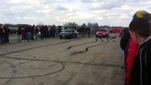 Audi 80 B4 1.9 TDI vs VW Golf 3 1.9 TDI (Drag Race 14.04.2012, Jēkabpils)