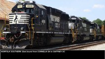 NS: 9 Eastbound Trains, 27 engines / 9 amerikanische Gueterzuege, 27 Loks (Compilation)