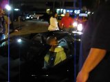 Nelly Leaves His Lamborgini In The Middle Of The Street To Get To Maxim Party In Miami, Super Bowl