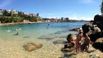 Snorkeling Shelly Beach, Manly with iPone5 & Optrix Case 10:00 mins