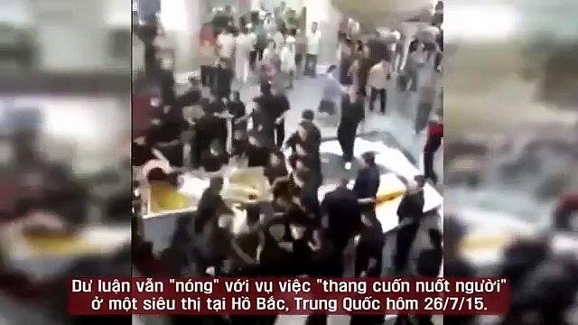 Người nhà nạn nhân thang cuốn làm đám ma giữa siêu thị gây náo loạn