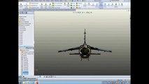 Avion de chasse:Mirage F1 SolidWorks.wmv