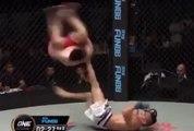 MMA : Impressionnant coup de pied acrobatique...dans les testicules