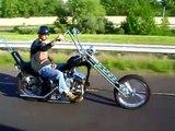 Old School Harley Sportster CHopper- Heading to Hooters Bike Night