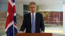 TUNISIA: Hammond delivers warning