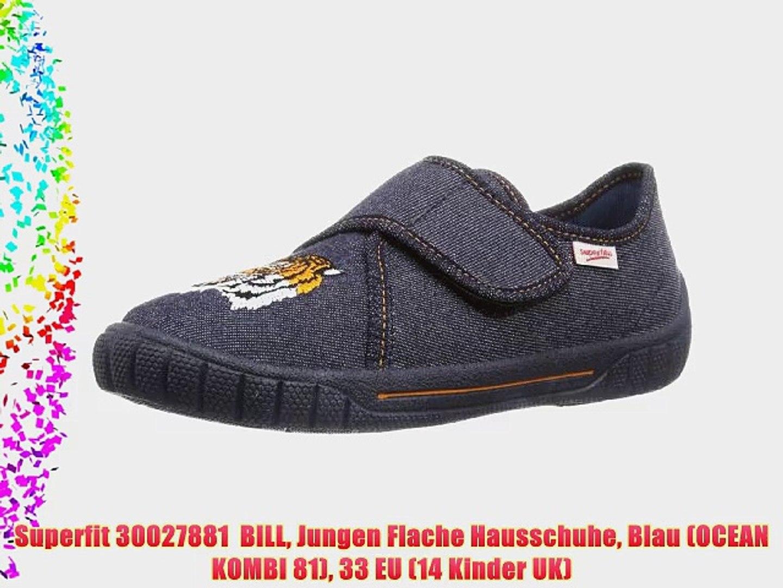 Bill schwarz Jungen Hausschuhe | superfit® Shop