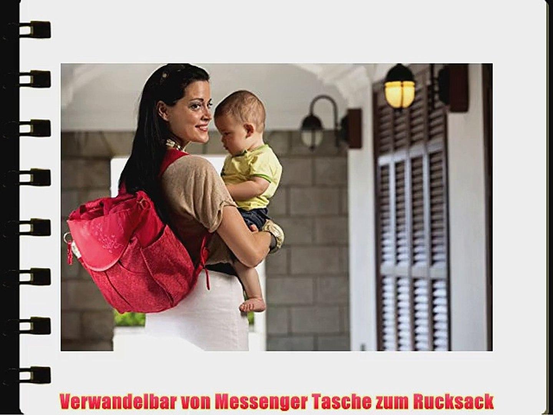 okiedog Sumo Wickeltasche/ Rucksack Sakawa rot - Polyester