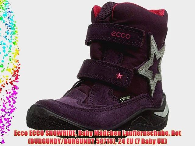 Ecco ECCO SNOWRIDE Baby M?dchen Lauflernschuhe Rot (BURGUNDY