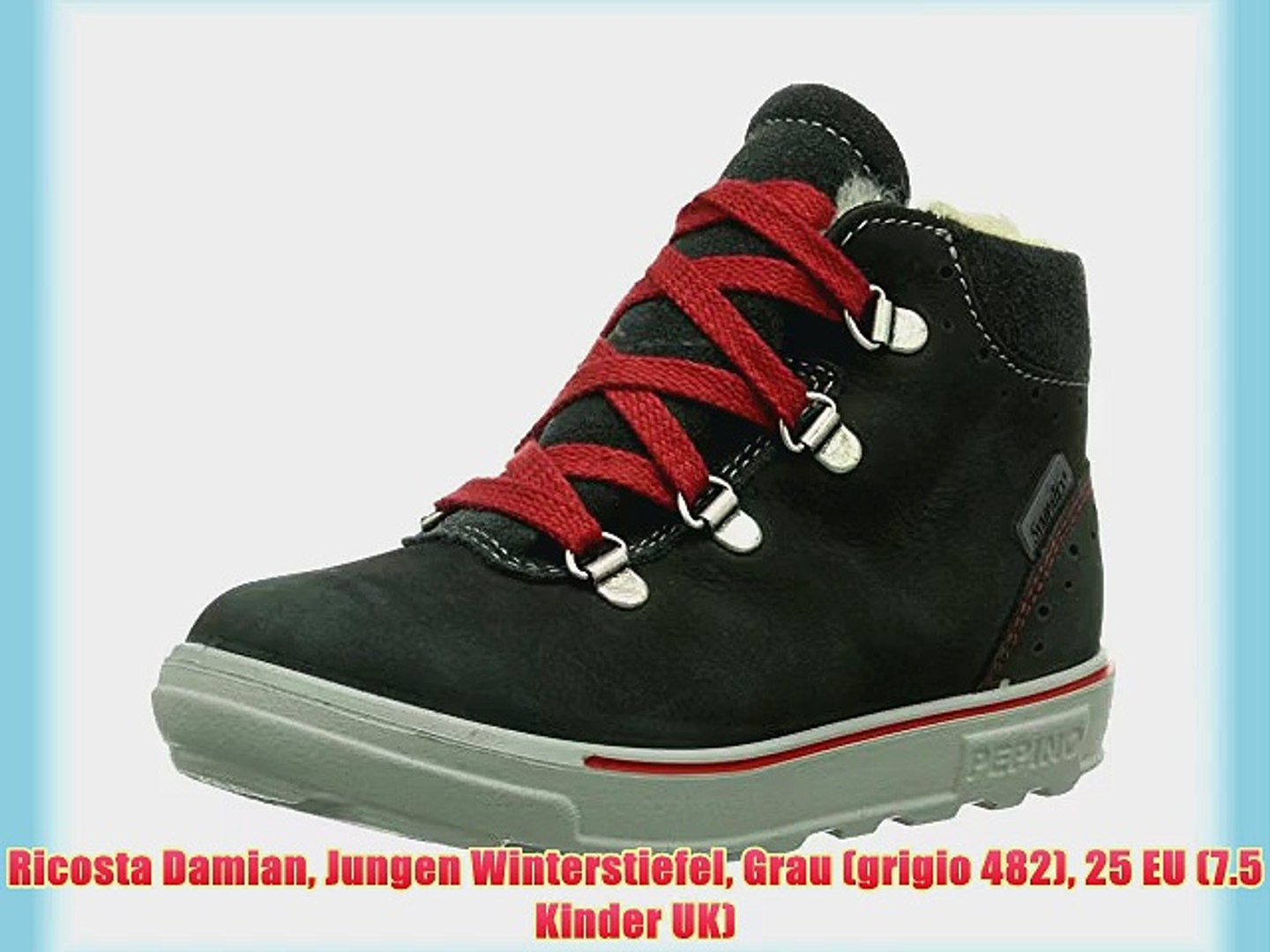 check out 23c52 6685f Ricosta Damian Jungen Winterstiefel Grau (grigio 482) 25 EU (7.5 Kinder UK)