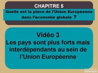Term chap 4 Les pays sont plus forts mais interdépendants au sein de l'union européenne (3)