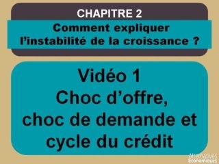 Term chap 2 Choc d'offre, choc de la demande et cycle du crédit (1)