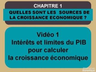 Term chap 1 Intérêts et limites du PIB pour calculer la croissance économique (1)