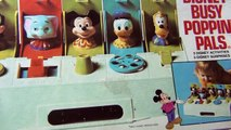 Disney Pre-School Busy Poppin' Pals Toy, by Kohner Brothers - Goofy, Dumbo, Mickey, Donald, Pluto