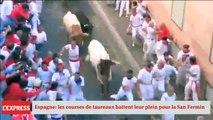 Espagne: les courses ce taureaux battent leur plein à Pampelune