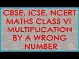 Multiplication by a Wrong Number - CBSE ICSE NCERT Maths Class VI