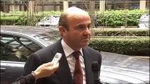 Luis de Guindos, declaraciones previas a la reunión del Eurogrupo en Bruselas