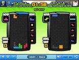 Tetris Battle 2P Rank 100 God of Tetris ZT Stacking T-Spin 5 KO 70 Lines Sent