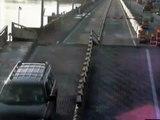 Car jumps Flagler Bridge | Distracted Florida Driver Jumps Over Raised Drawbridge