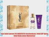 Yves Saint Laurent YSL MANIFESTO Geschenksatz: 30ml EDP Spray 50ml Body Lotion Moisturiser