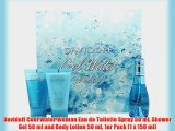 Davidoff Cool Water Woman Eau de Toilette Spray 50 ml Shower Gel 50 ml and Body Lotion 50 ml