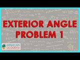 $ CBSE  Maths Class IX, ICSE Maths Class 9 -  Exterior Angle   Problem 1
