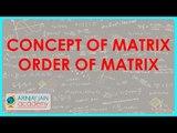 Concept of Matrix, Order of Matrix | Class XII CBSE Board