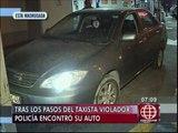 Ate: hallan auto de falso taxista acusado de violación