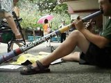 Didgeridoo Pete Making Money Busking in Darwin