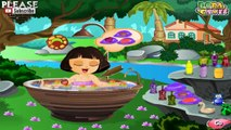 Dora Cute Bathing Game for kids girls cartoon # Play disney Games # Watch Cartoons