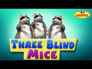 Three Blind Mice || 3D Nursery Rhymes For Children with Lyrics || 3 Blind Mice See How They Run