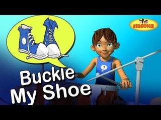 One Two Buckle My Shoe | 3D Nursery Rhyme | Numbers Song