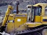 cat d9 caterpillar d9 in hard rock quarry