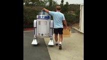 R2-D2 peut maintenant voler - Drone volant géant R2-D2