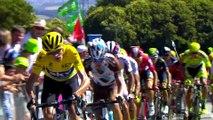 Flamme rouge / Last KM - Étape 8 (Rennes > Mûr-de-Bretagne) - Tour de France 2015