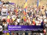 MARŞ PENTRU UNIRE. Sute de tineri moldoveni au ajuns în România după ce au mers pe jos 100 de kilometri. Prin marşul de aproape 100 de kilometri, ei cer unirea ţării noastre cu Republica Moldova.