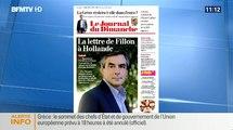 BFM TV : La lettre de François Fillon au Président de la République François Hollande