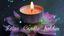 LOTUS CANDLE HOLDER from Polymer clay, polymer clay flowers, 软陶, ポリマークレイ, Полимерная Глина