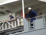 """Tewaterlating / Ship Launching / Stapellauf  """"Flinter America"""" @ Ferus Smit Shipyard 10 april 2010"""