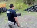 Tiro Tactico con Pistola 9mm y Escopeta 12