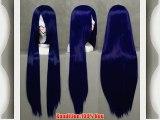 COSPLAZA Cosplay Wig Kostueme Peruecke Naruto Shippuden Hinata Hyuga Lang Dunkelblau Synthetische