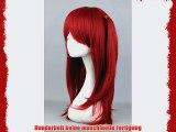 Per?cke 60cm Rot f?r Long Magi - Moore Gala Cosplay oder Schaufensterpuppen Karneval oder Mottoparties