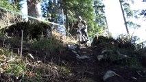 Course Rhône-Alpes de VTT de descente à Saint Pierre de Chartreuse le 24 et 25 Octobre 2009